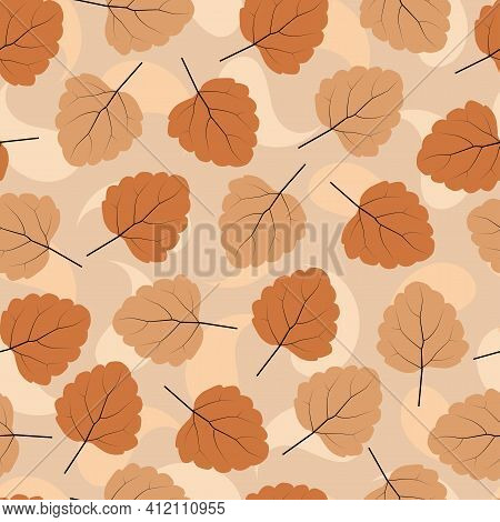 Elegant Trendy Ditsy Floral Vector Seamless Pattern Design Of Exotic Dry Leaves. Repeating Texture F