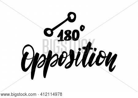 Vector Hand Drawn Brush Ink Illustration Of Opposition Astrological
