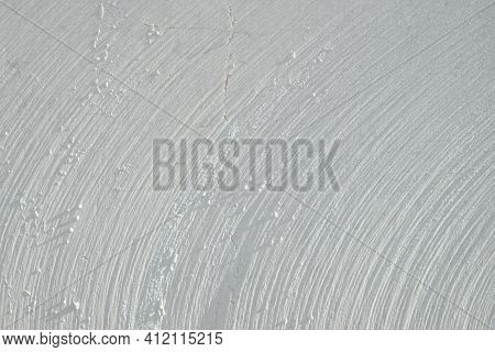 White Marble Texture. Furrows On Cross Section Cut Stone. Concentric Circles On Cut Stone Material