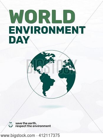 World environment day with save the earth flyer