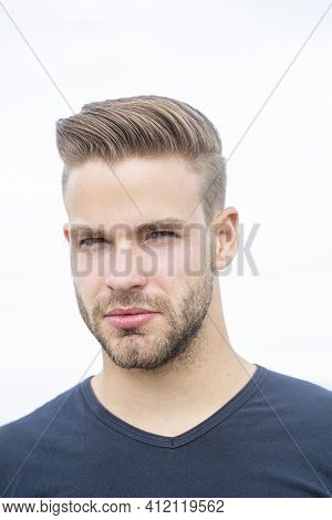 Serious Man Portrait. Young Mans Face. Faces Portraits. People Emotions. Serious Gay. Lgbtq, Pride L