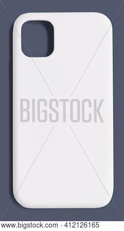 White smartphone case mockup product showcase back view