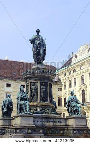 Kaiser Franz I statue in Hofburg, Vienna, Austria