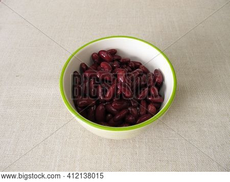 Boiled Red Kidney Beans In A Bowl