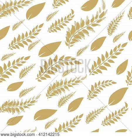 Deciduous Brown Patter On A Light Odor. Very Gentle And Ethnic. Vector Image