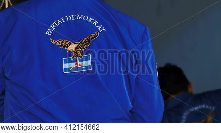 Not Focus And Noise Image, Member Of The Indonesian Democratic Party In Wearing His Uniform, Batang,