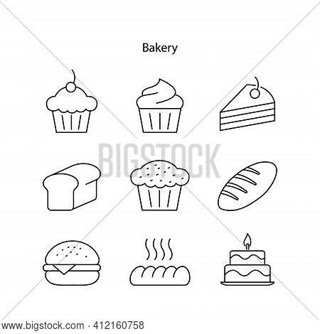 Bakery Icon Isolated On White Background. Bakery Icon Trendy And Modern Bakery Symbol For Logo, Web,