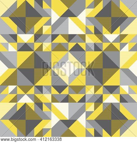 Abstract Background Patterns, Geometric Shapes, Triangle, Square, Diamond Shape. Color Trends Of The