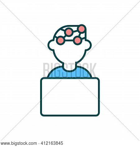 Chronic Migraine Rgb Color Icon. Severe Pain In Head. Frequent Headache Episodes. Computer Eye Strai