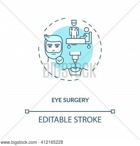 Eye Surgery Concept Icon. Eye Diseases Treatment Methods. Surgery Performed On Eye To Fight Diseases