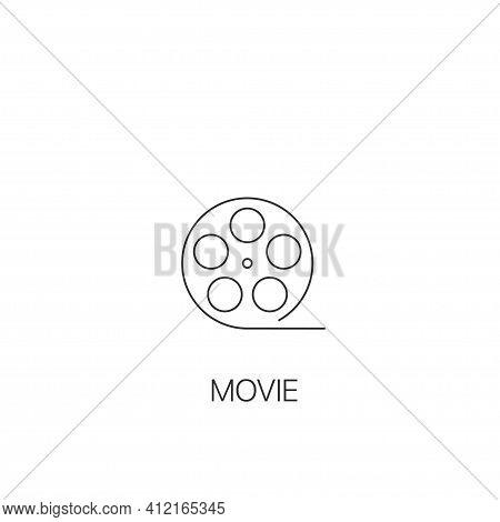Movie Simple Icon Movie Reel , Cinematography Symbol Vector