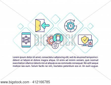 Secure Banking Concept Icon With Text. Ppt Page Vector Template. Debt Securities. Financial Asset. B