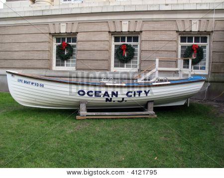 Ocean City Lifeboat At Christmas