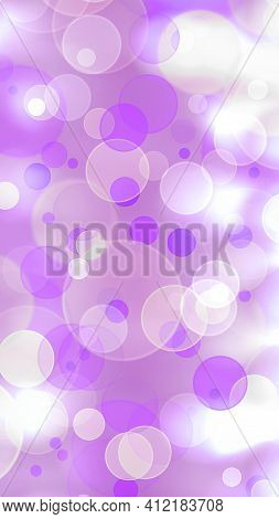 Delicate Purple Background With Round Bokeh. Bokeh Light Background .abstract White And Purple Backg