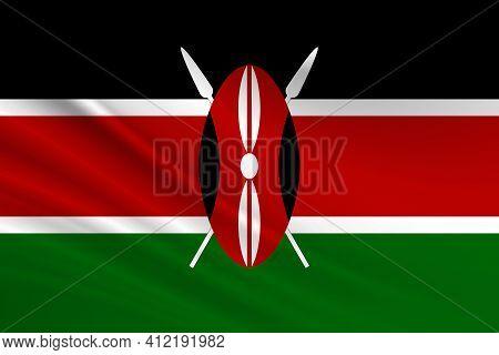 Flag Of Kenya Fabric Texture Of The Flag Of Kenya.