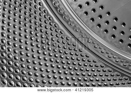 Washing Machine Drum Metal Texture Background