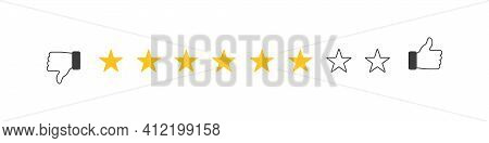 Rating Icons. Rating Stars. Scale Stars Customer Product Rating. Vector Illustration