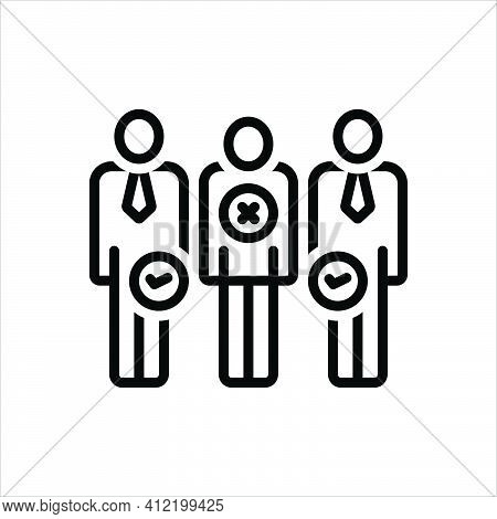 Black Line Icon For Discrimination Nepotism Differentiation Partiality Partisanship People