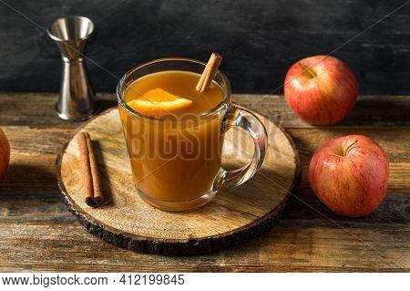 Boozy Warm Apple Cider Cocktail