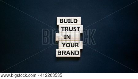 Success Business Process Symbol. Wood Blocks Stacking As Step Stair On Black Background, Copy Space.