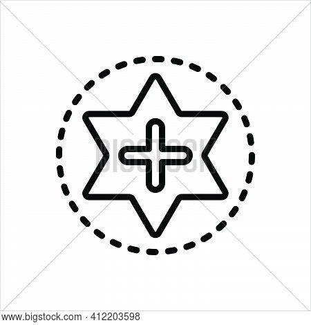 Black Line Icon For Favorites First-choice Preference Addition Star Like