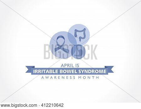 Vector Illustration Of Irritable Bowel Syndrome (ibs) Awareness Month Observed In April