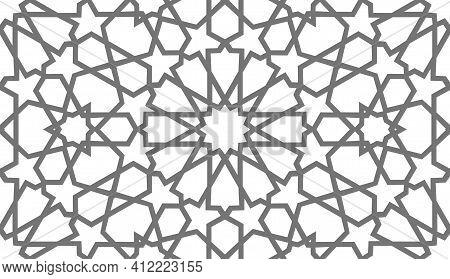 Arabic Pattern Ramadan Mubarak Muslim Star Pattern Simple. Flower Square Design. Islamic Pattern Bac