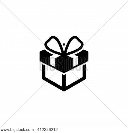 Gift Icon Isolated On White Background From Ecommerce Line Collection. Gift Icon Trendy And Modern G