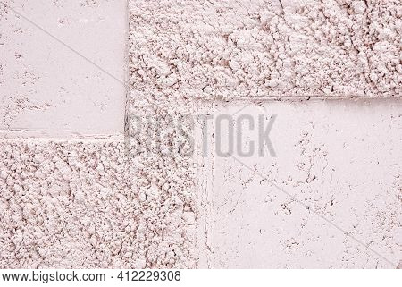 Loose Face Powder Texture Of Light Ivory Color, Copy Space
