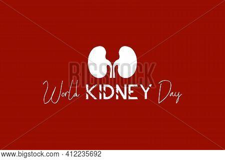 International Kidney Day Vector Design. World Day For Kidney Disease Awareness. Kidney Logo. Medical