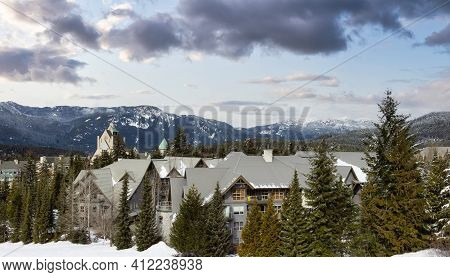 Chalets And Vacation Homes In A Village At A Famous Ski Resort