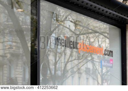 Bordeaux , Aquitaine France - 03 08 2021 : Meilleurplacement.com Sign Brand And Text Logo Meilleur P