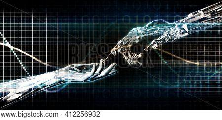 Disruptive Innovation as a Revolutionary Idea Concept Art 3d Render