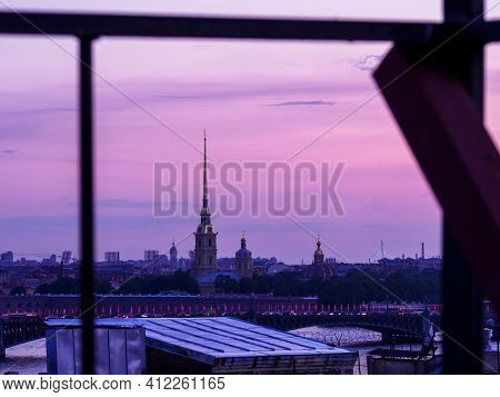 Russia, St. Petersburg - June 27, 2020: Peter And Paul Fortress On Rabbit Island In St. Petersburg A