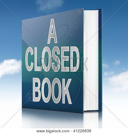 A Closed Book.