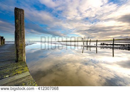 This Old Forgotten Harbor Is Located Near The Village Of Cocksdorp On Texel, In The Middle Of The Un
