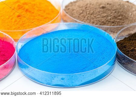 Blue Iron Oxide, Synthetic Iron Oxide Used As A Dye