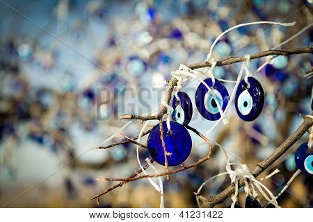 eye-shaped amulets to protect against the evil eye