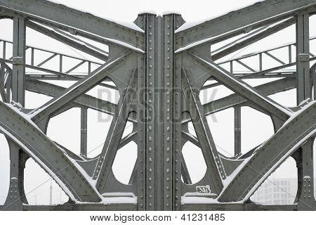 Metal Girders on a Bridge