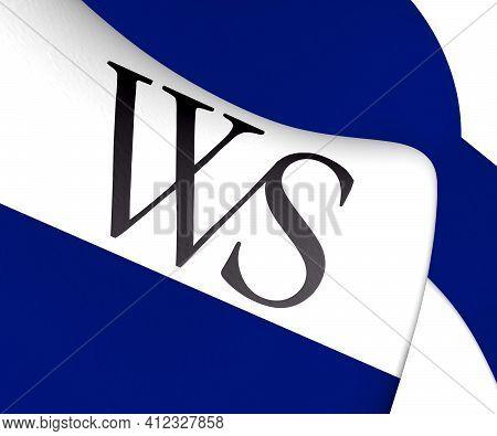 3d Flag Of Weesp (north Holland), Netherlands. 3d Illustration.