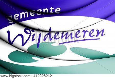 3d Flag Of Wijdemeren (north Holland), Netherlands. 3d Illustration.