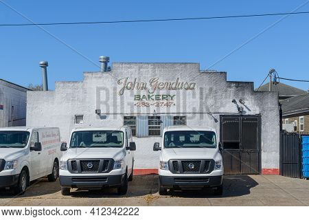 New Orleans, La - March 3: Historic John Gendusa Bakery In Gentilly Neighborhood On March 3, 2021 In