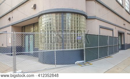 Chicago, Il August 9, 2016, Oprah Winfrey Harpo Studios Building Fenced Off, About To Be Demolished
