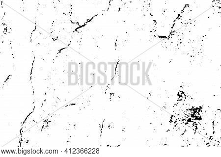 Grunge Black And White Texture Background (vector). Use For Decoration, Aging Or Old Layer