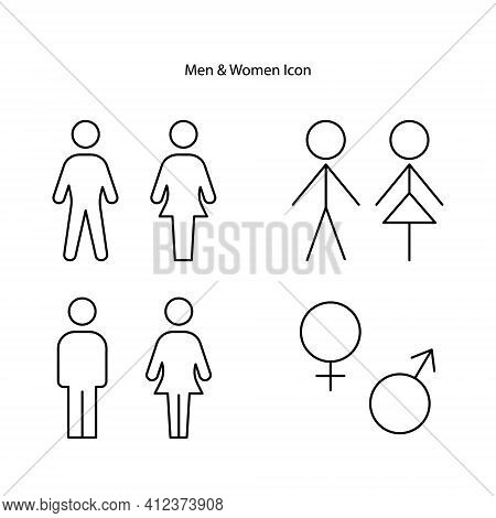 Woman And Man Partners Icon Isolated On White Background. Woman And Man Partners Icon Trendy And Mod