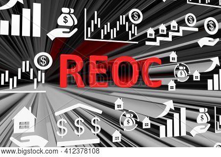 Reoc Concept Blurred Background 3d Render Illustration