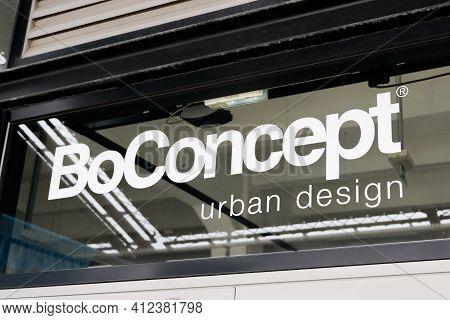 Bordeaux , Aquitaine France - 03 08 2021 : Boconcept Sign Text And Brand Shop Logo Bo Concept Store