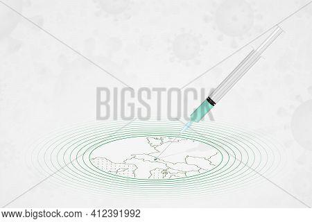 Liechtenstein Vaccination Concept, Vaccine Injection In Map Of Liechtenstein. Vaccine And Vaccinatio
