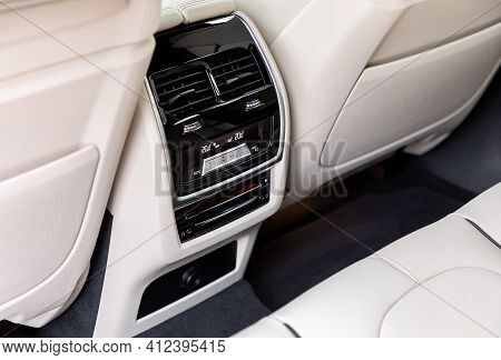 Air-condition Panel In Interior Of A Luxurious Car