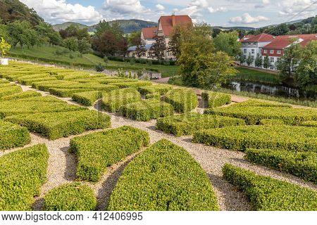 Park Of Wilhelmsburg Castle In Schmalkalden, Thuringia